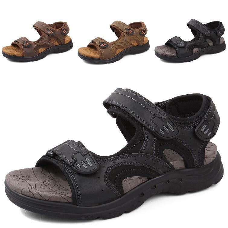 Para Hombres Zapatos Sandalias De Playa Charol Slip On Puntera Abierta Tacón Bajo Roma ocio Antideslizante