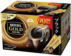 Nescafe Gold Blend Black Coffee Stick 90 Packs Regular Soluble Coffee Japan