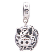 Piggy Bank Charm - Silver European Charm - Wedding Gift - Gift Packaging