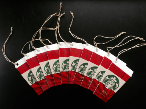 NEW Lot of 10*** Starbucks Die Cut Christmas Cup Gift Card Ornament 2014
