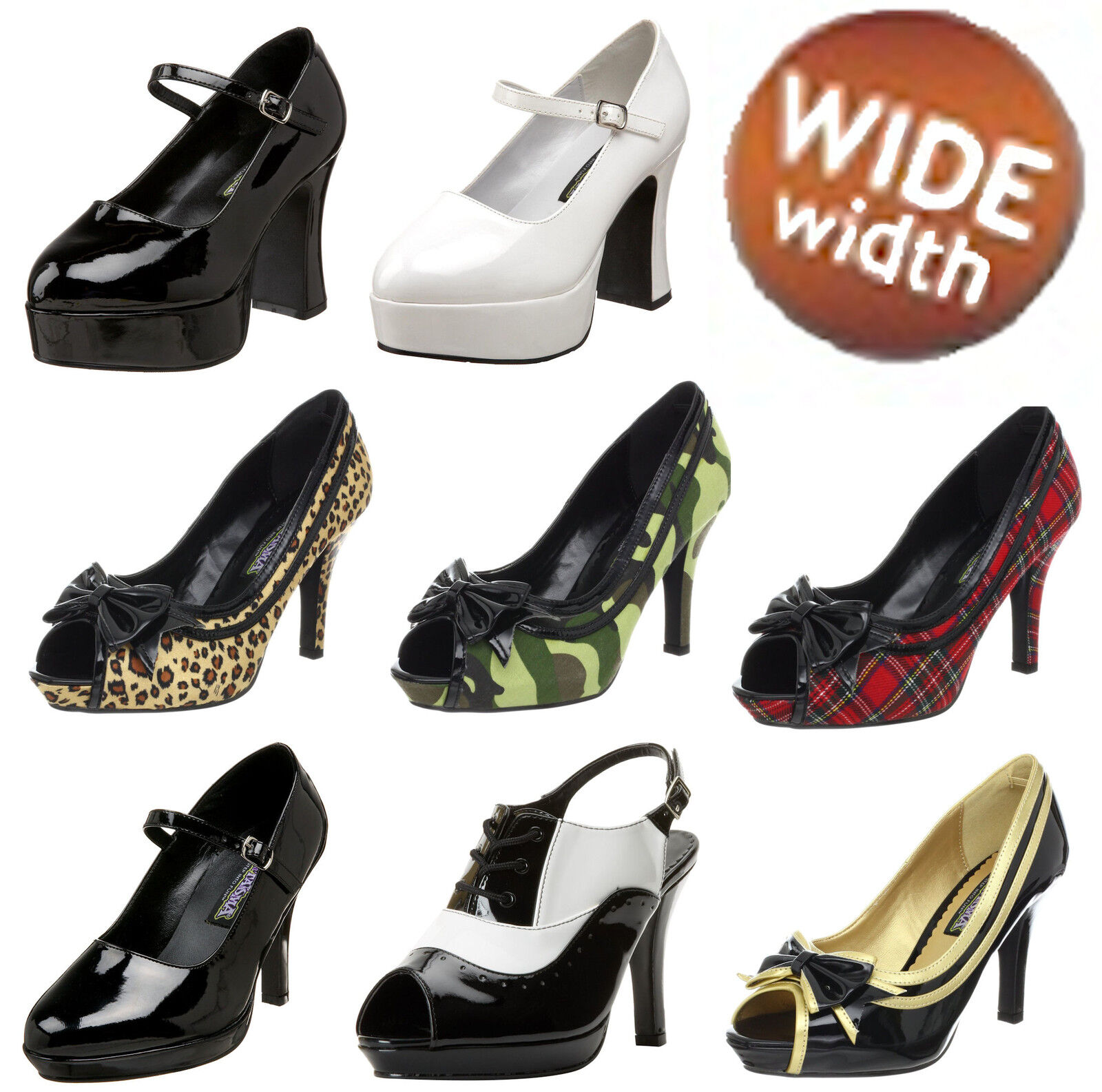 FUNTASMA WIDE WIDTH shoes CONTESSA GANGSTER KITTY MARYJANE PILOT PREPPY SOLDIER
