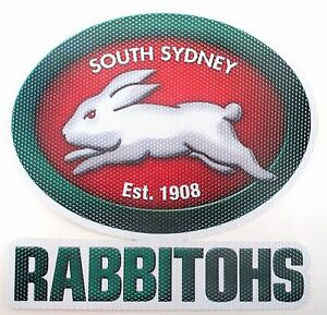 62824-SOUTH-SYDNEY-RABBITOHS-NRL-CLUB-NEW-LOGO-SEE-THRU-CAR-WINDOW-STICKER-DECAL