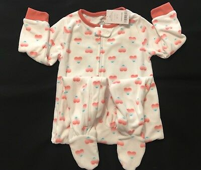 100% Quality Carter's Girls New Sz 24 Mo Footed Fleece Pajamas Blanket Sleeper Footie Pj Nwt Baby & Toddler Clothing Sleepwear