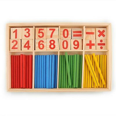 Wooden Montessori Mathematics Material Early Learning Educational for Kids