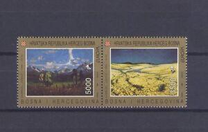 BOSNIA-CROATIA, EUROPA CEPT 1993, CONTEMPORARY ART, MNH