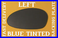 BMW Z4 2002-2008 DOOR WING MIRROR GLASS CONVEX BLUE TINTED +BACK PLATE LEFT