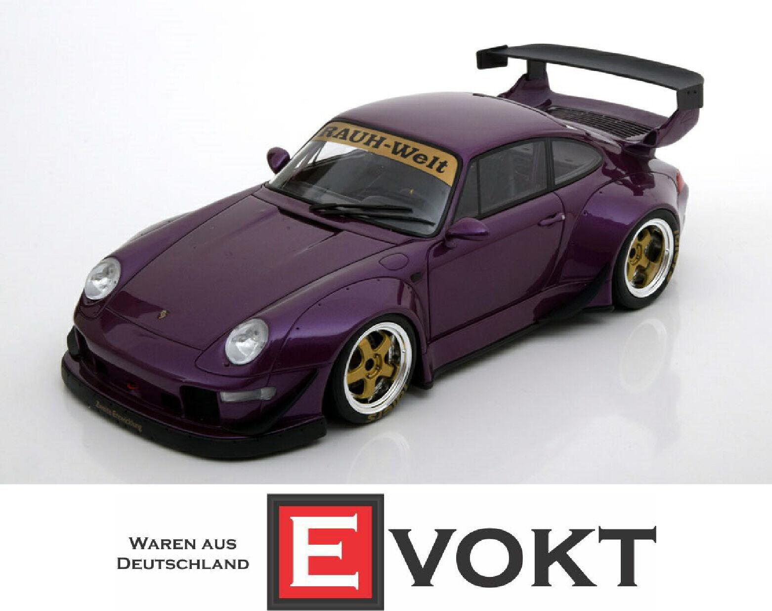 1 18 GT Spirit Porsche 911 (993) RSF violet métallisé