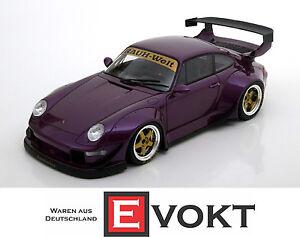1-18-GT-Spirit-Porsche-911-993-RWB-purple-metallic-genuine-new