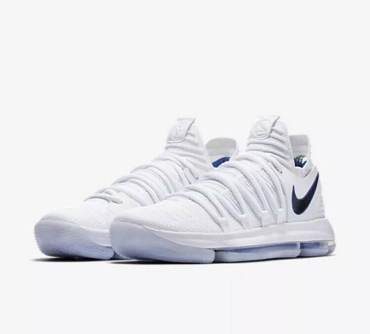 Nike Zoom KD10  Numbers   Men's Size 11 White Warriors 897815-101 Kevin Durant