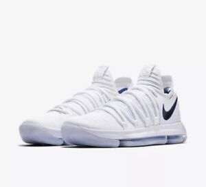 NEW BASKETBALL NIKE ZOOM KEVIN DURANT KD10 WHITE GAME ROYAL SIZE 9.5 897815 101