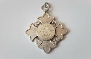 ANTIQUE-STERLING-SILVER-POCKET-WATCH-FOB-MEDAL-MALTESE-CROSS-BIRMINGHAM-1899