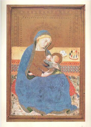 "1960 Art Print ""Madonna & Child"" By Tommaso da Modena Italian Free Shipping"