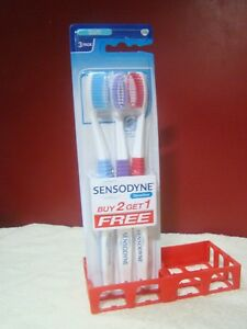 Toothbrush-3-Sensodyne-Sensitive-Soft-GSK-Soft-Bristle-Lot-of-3-Free-Shipping