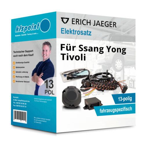 JAEGER E-Satz 13polig fahrzeugspezifisch incl Ssang Yong Tivoli 06.2015 manual