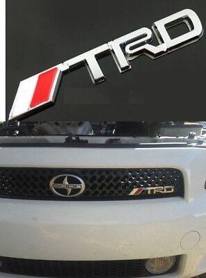 TRD Front Grill Badge Emblem 3D Grille Badge Logo Black /& Red Top Stock
