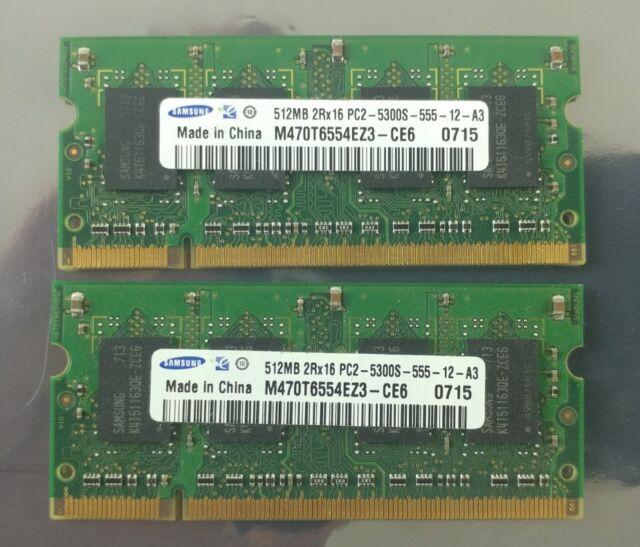 Samsung RAM M470T6554EZ3-CE6  512MB 2RX16 PC2-5300S-555-12-A3