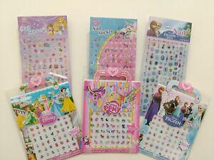 Kids-Nail-stickers-lot-Frozen-Disney-Princess-my-little-pony-nail-art-decal-mix