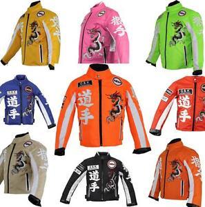 Bambini-Giacca-Moto-Biker-Giacca-Moto-Racing-vento-di-tenuta-Patch-Biker-Rocker