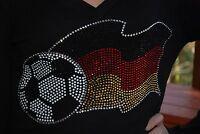 Germany Soccer Shirt World Cup Rhinestone Bling Shirt Xs S M L Xl 2x 3x 4x 5x
