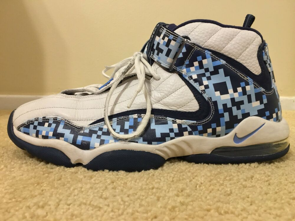 Nike Air Max Penny IV 4 Vintage 2006, 312455-141, blanc/Navy/Bleu, homme Taille 13
