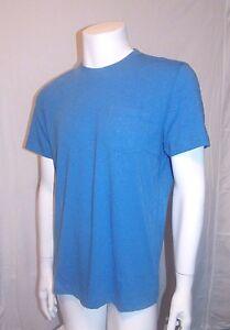 KENNETH-COLE-Reaction-NWT-Men-039-s-Pocket-Crewneck-T-Shirt-Color-Blue-Large