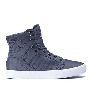 Details about Men's Supra Skytop Chad Muska Canvas Skateboarding BlueWhite Sz 8 12 08002 427