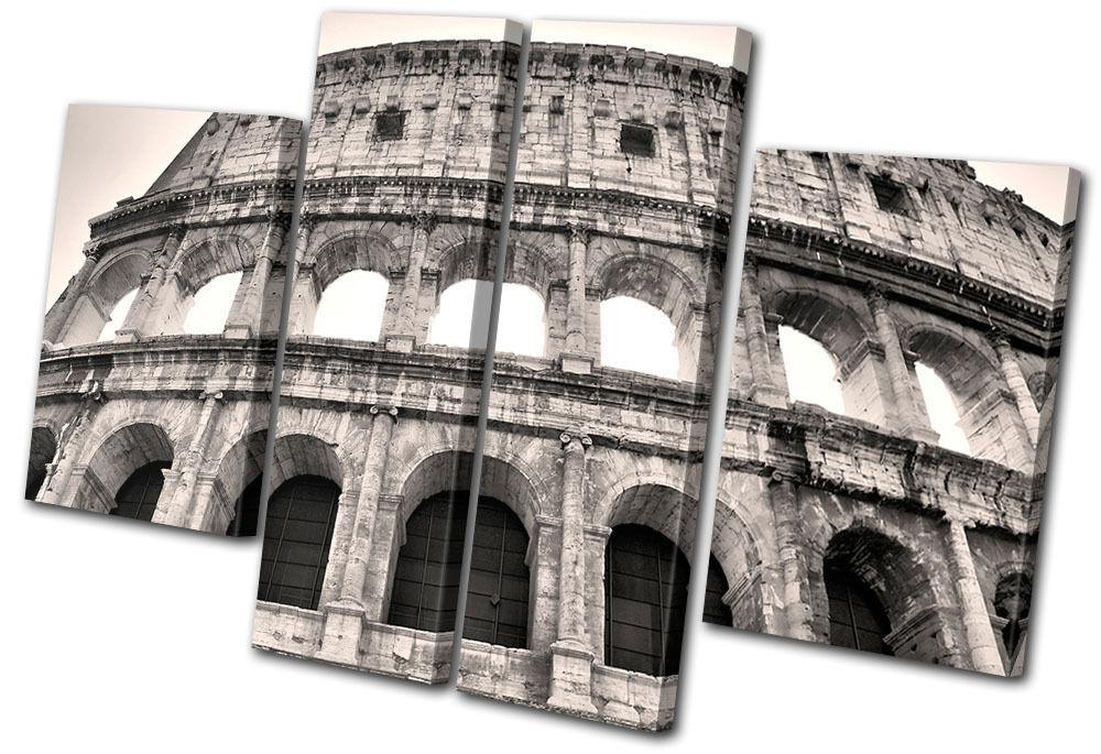 Landmarks Colosseum Vintage Rome MULTI Leinwand Wand Kunst Bild drucken