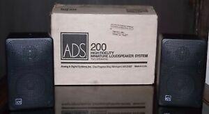 Vintage-ADS-200C-Series-High-Fidelity-Bookshelf-Speakers-w-Original-Box-Packing