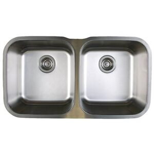 1 Bowl Kitchen Sink Blanco 441020 stellar stainless steel 33 13 equal double bowl image is loading blanco 441020 stellar stainless steel 33 1 3 workwithnaturefo