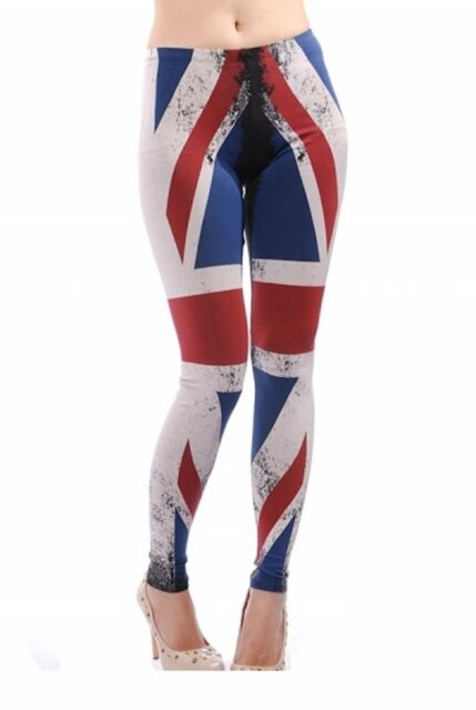 CELEBRITY STYLE Union Jack British Flag Sexy Fitted Legging Pants