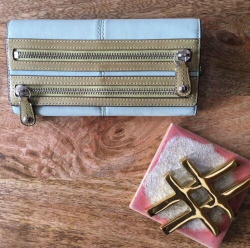 Coach Blue And Green Bonnie Bifold Wallet - image 1