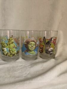 shrek the third mcdonalds glass Set Of Three