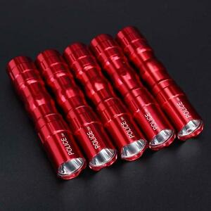 5Pcs-Portable-Ultra-Bright-3W-Police-Waterproof-LED-Mini-Flashlight-Torch-Red-GA