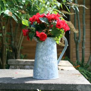 Vintage Effect Jug Flower Planter Garden Outdoors Patio Pot Herb Bucket Vase