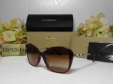 fa237879900 BURBERRY B4235 QF BUTTERFLY Bordeaux Frame Brown Lens Sunglasses 57 16  140   NIB