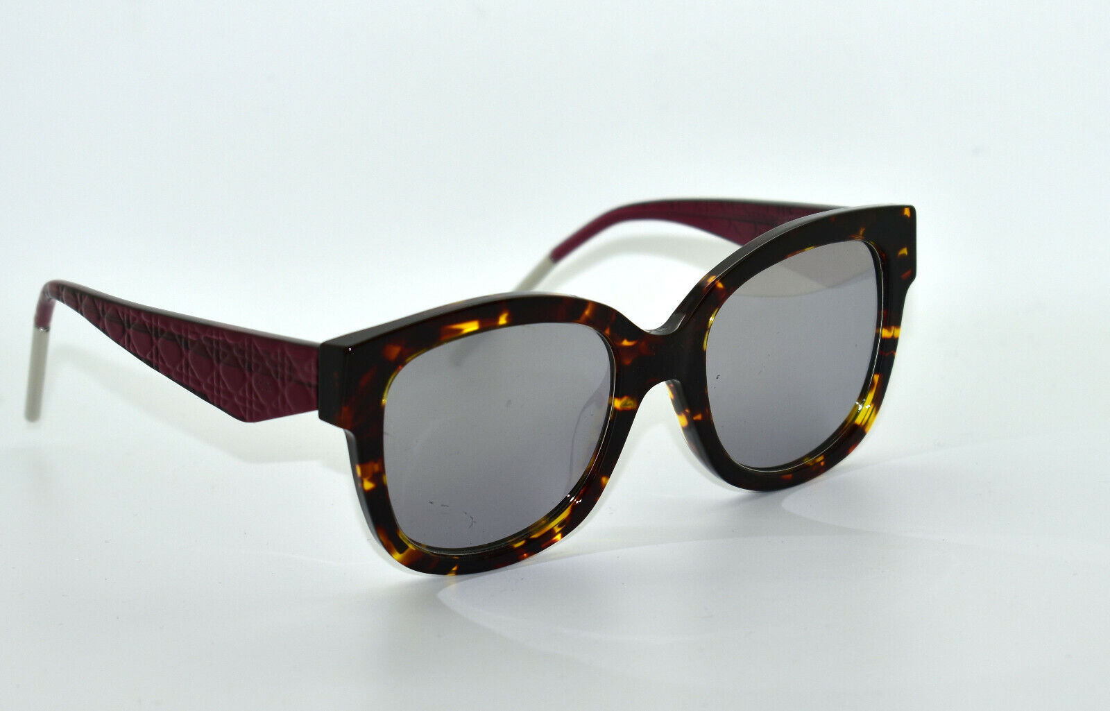 D0 NEW CHRISTIAN DIOR Very Dior N VV5DC Havana & Pink Crystal Mirror Sunglasses