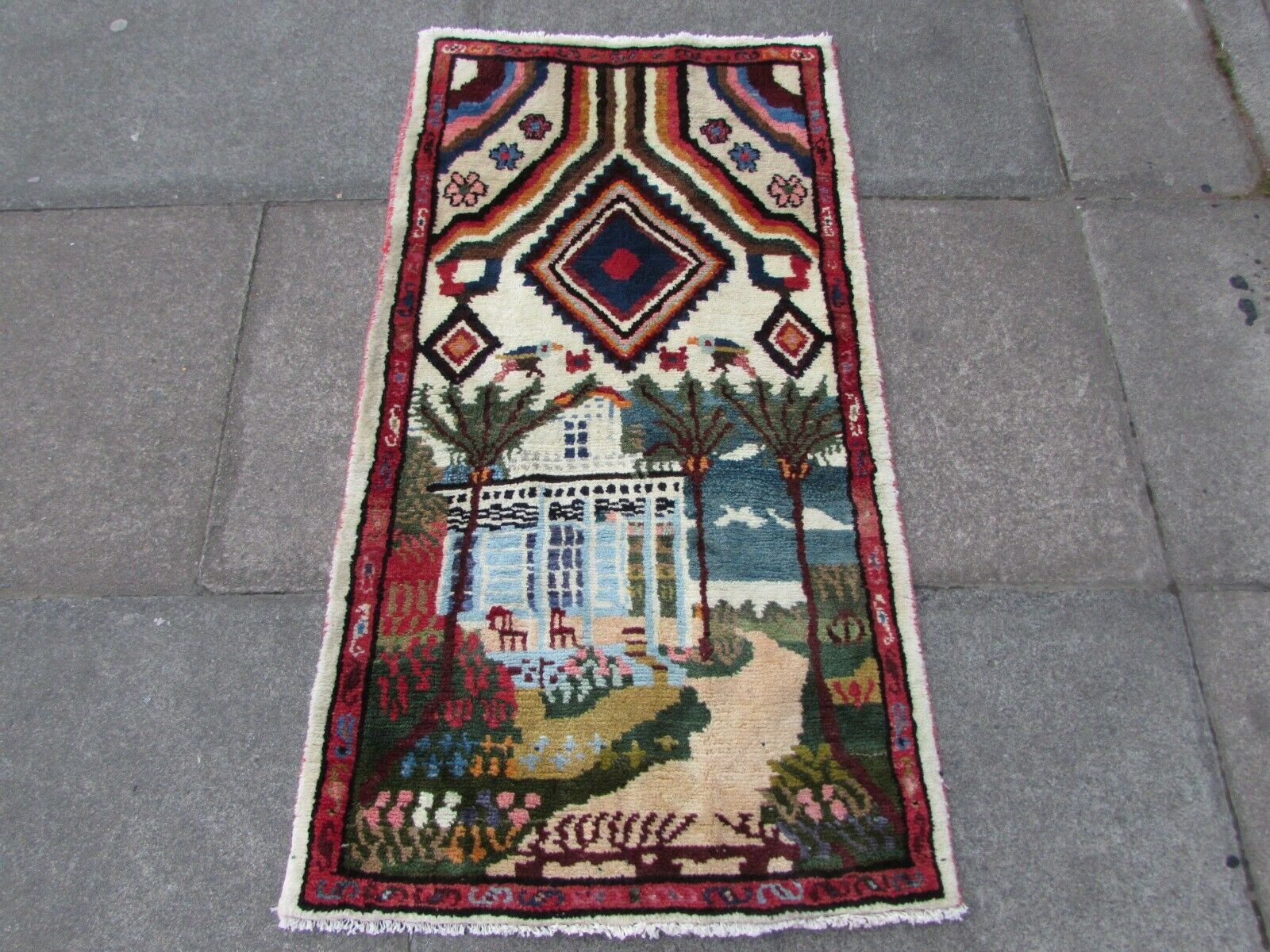 Old Hand Made Traditional Persian Rug Oriental Oriental Oriental Wool braun rot Small Rug 125x68cm ea13b0
