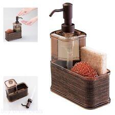 Soap Dispenser Pump Sponge And Scrubber Caddy Organizer Kitchen Sink Bronze New