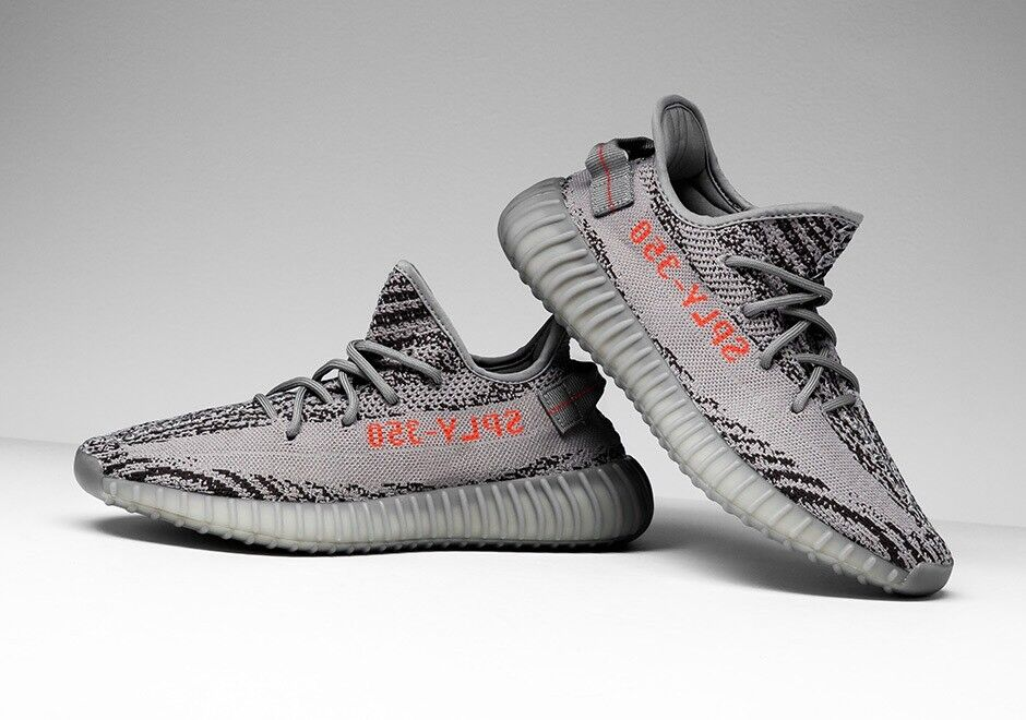 Adidas Yeezy 350 V2 Beluga Beluga Beluga 2.0 grigio arancia AH2203 Sz 5   4 100% Authentic Kanye 0bbfe6