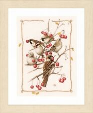 Sparrows with Red Berries - Marjolein Bastin/Lanarte Kit w/27 Ct. Evenweave