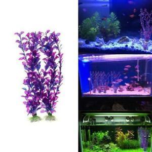 Artificial-Aquatic-Aquarium-Fish-Tank-Purple-Water-Grass-Decor-Fake-S2O2