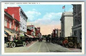 RED-BANK-NEW-JERSEY-BROAD-STREET-LOOKING-NORTH-UNION-NEWS-CO-PUBL-POSTCARD