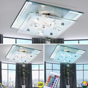 LED Büro Decken Lampe Küchen Leuchte Flur Bad Spiegel Licht Glas Kristall EEK A+