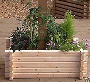 Wooden Planter Easy Build Around Post Tree Flower Bed Garden Patio