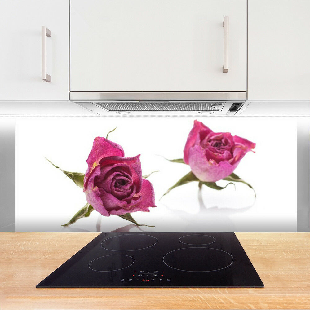 Crédence de de de cuisine en verre Panneau 125x50 Floral Rosas a15d48