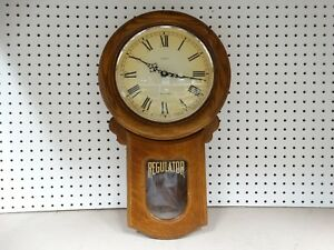 Linden-Westminster-Chime-Regulator-Wall-Clock-needs-repair-see-pictures