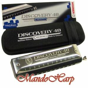 Hohner-Chromatic-Harmonica-7542-48-C-Discovery-48-12-Hole-48-Reed-NEW-MODEL