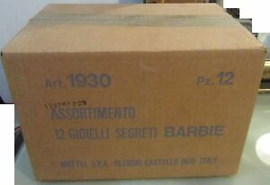 Ensemble original Barbie 12 Secrets Jewels Mattel 1930 Warehouse Fund