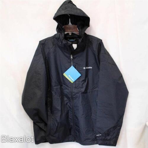 NEW COLUMBIA STRAIGHT LINE RAIN JACKET Men/'s Shell Black S-M-L-XL-2XL MSRP $90