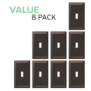 Details About Value 8 Pack Toggle Light Switch Wall Plate Decorative Oil Rubbed Bronze